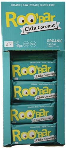 Roobar Barritas Raw Biológica de Chía y Coco - 20 Barras