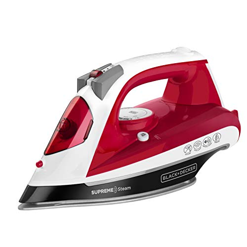 Black+Decker IR23970 Plancha Supreme Steam, color Rojo