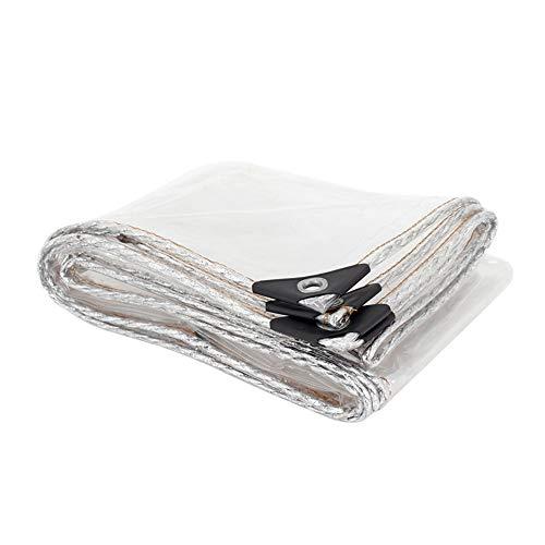 QI-CHE-YI Membrana de Efecto Invernadero Balcón Lluvia Lluvia Cloth Shed decoración Transparente...
