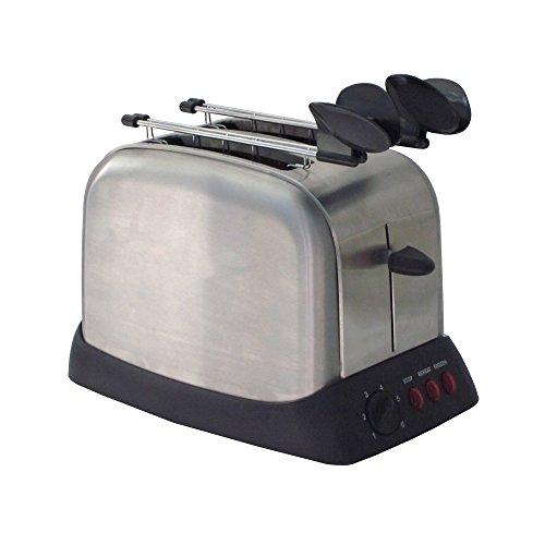 Ardes AR1T30 Tostapane 2 Fette TOSTO Inox in Acciaio 3 Funzioni Cottura e Timer con Pinze Vassoio Raccoglibriciole Removibile e Avvolgicavo, 1000 W, Inossidabile