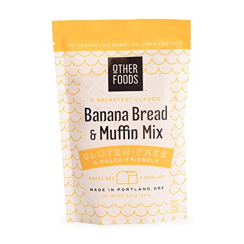 Other Foods Gluten Free Banana Bread and Muffin Baking Mix Paleo Friendly - Easy to Bake, 100% Grain Free, Dairy Free, Corn Free, No Refined Sugar or Soy (Banana, 1 bag)