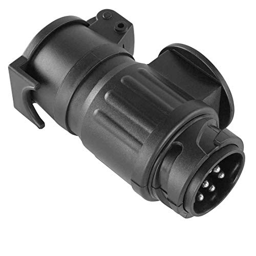 Anhänger - Adapter | Version: 13-polig auf 7-polig | Kunststoff | lange Ausführung | Stecker | Strom | Fahrzeug | Trecker | Anhänger | lang