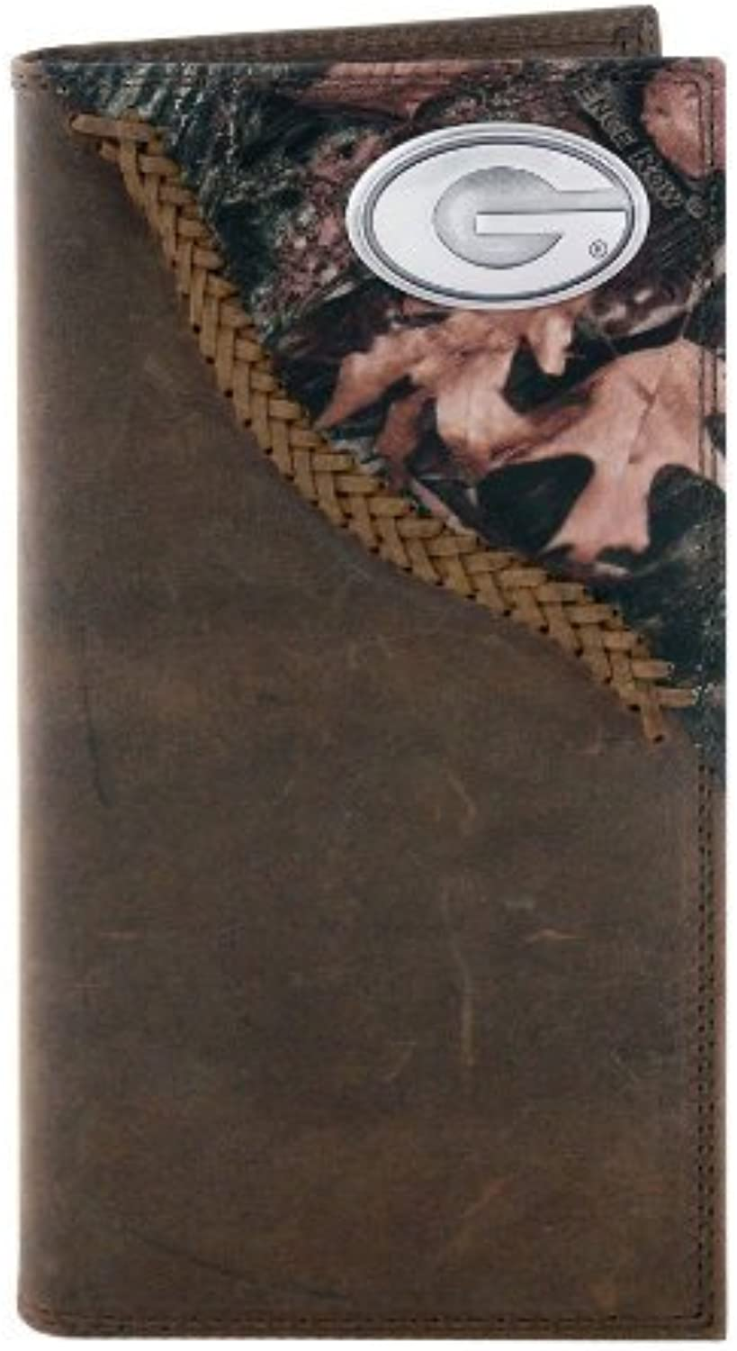 NCAA Georgia Bulldogs Camouflage Leather Roper Concho Wallet, One Größe by ZEP-PRO