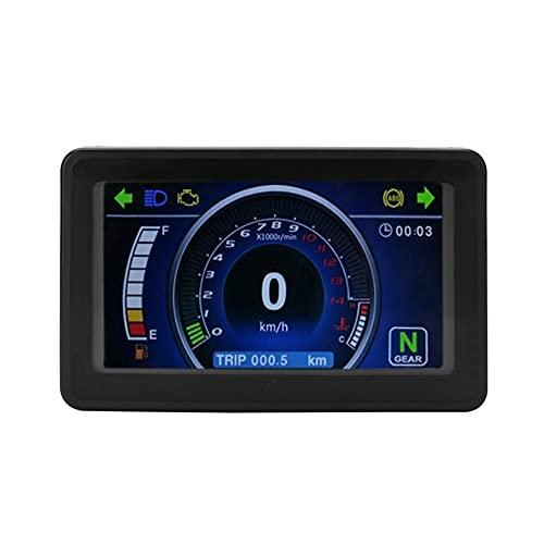 LeftSuper Velocímetro, arnés de Cables, Sensor de Velocidad, LCD Universal, velocímetro de Motocicleta, odómetro, Velocidad de RPM, Accesorios de Motocicleta