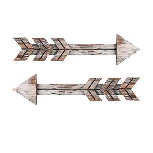 Soonow Arrows Decor, Rustic Farmouse Wood Arrow Sign Wall Hanging, Set of 2