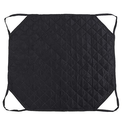 EVTSCAN Almohadilla de Cama de posicionamiento con Asas reforzadas, Hoja de Transferencia Lavable Reutilizable para Girar, Levantar, Tela Impermeable de Doble Cara(Negro)