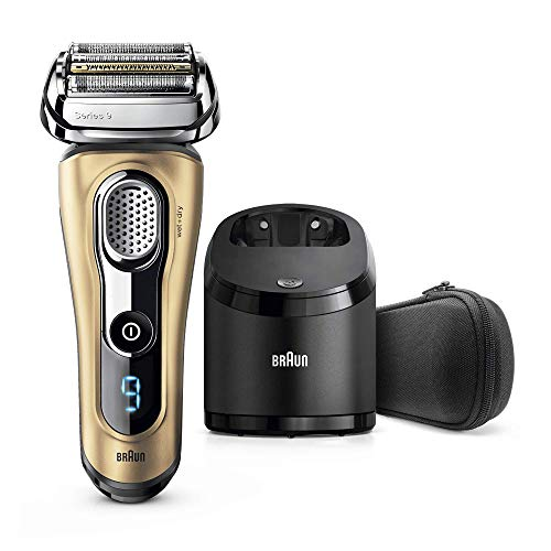 Braun 9299cc Series 9 Men's Electric Beard Trimmer with Blade, Cleaning Station and Travel Case Gold Edition