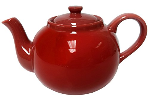 Théière XXL 2,5 l - En porcelaine - Rouge