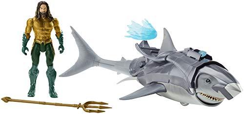 DC AQUAMANTMFigura Aquaman y su Tiburón de Batalla (Mattel FWX37)