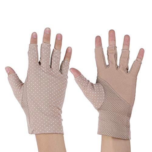 Bloqueador Solar Medio Dedo Guantes Guantes sin Dedos Ligeros Protección Solar Guantes de conducción Guantes de Verano para Mujeres
