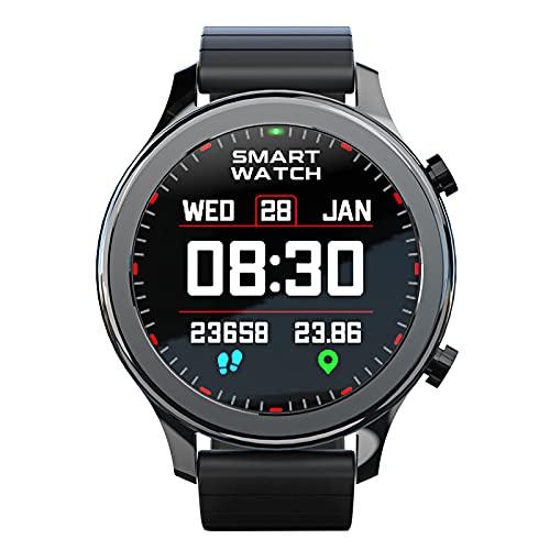 Rvlaugoaa Llamadas Bluetooth Smartwatch Recordatorio de Mensajes Rastreador de Ejercicios Podómetro Pulsera Deportiva Inteligente Reloj Inteligente a Prueba de Agua para teléfonos iPhone/Android