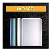 ビジネスクリップボード バーレポートをスライディングファイルフォルダのクリアはA4サイズ用紙のためのプレゼンテーションファイルフォルダーオーガナイザーバインダーをカバーし、オフィス学校は10個用品 事務用品 (Color : A)