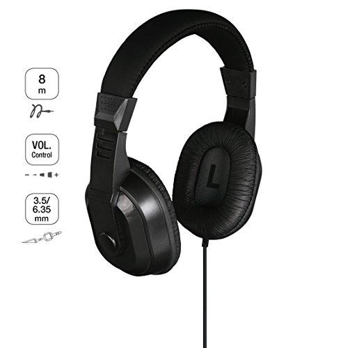 Thomson TV-Kopfhörer mit langem Kabel (Over-Ear, 8m Kabellänge, 3,5mm Klinkenstecker inkl. 6,35mm Adapter) schwarz & Panasonic RP-HT090E-H Bügelkopfhörer (TV-Kopfhörer; 3,5mm Klinkenstecker) grau