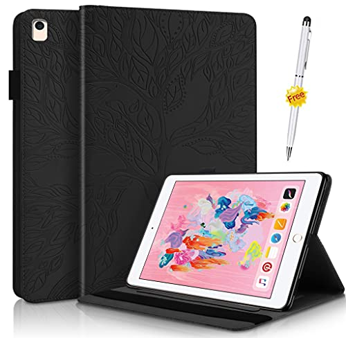 KSHOP Compatible con Funda iPad Pro 11 Inch (2nd Generation, 2020 Model) Carcasa con Auto-Sueño/Estela Negro