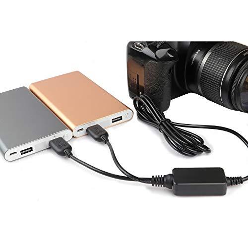 DMW-DCC12 USB Power Cable Replace of DMW-AC8 AC Adpater kit, DMW-DCC12 DC Coupler DMW-BLF19 External Dummy Battery for PANASONIC DMC-GH3 DMC-GH4 DMC-GH3K DMC-GH4K DC-GH5 digital Cameras