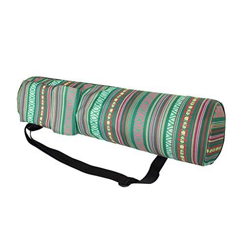 Toygogo Esterilla de yoga con cremallera completa y bolsillo de almacenamiento multifuncional para deportes gimnasio pilates - Correa de hombro ajustable - fácil de llevar