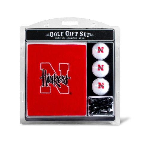 Buy Team Golf NCAA Nebraska Cornhuskers Gift Set Embroidered Golf Towel, 3 Golf Balls, and 14 Golf T...