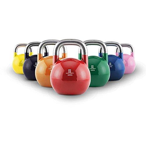 Capital Sports Compket - Kettlebell aux Normes Olympiques pour Exercices de Musculation : soulever, Lancer, Balancer - 16kg