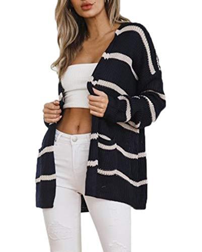 herfst, winter, dames, halflang, gebreide jas, casual, lange mouwen, pullover, mantel