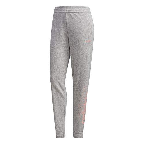 adidas Pantalón de ciclismo W Fav Tp Knt para mujer, Mujer, Pantalones de chándal, GVC44, Gris jaspeado medio/rosa gloria, XL