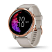 Garmin Venu, GPS Smartwatch with Bright Touchscreen Display, Features Music, Body Energy Monitoring, Animated Workouts, Pulse Ox Sensor and More, Rose Gold with Tan Band (Renewed)