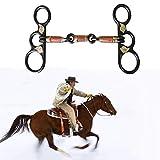 AMAIRS Morso di Cavallo, Trapano per Cavalli in Acciaio Nero in Stile Occidentale Equipaggiamento Equestre con Filo di Rame Avvolto a Bocca con Decorazioni in Argento
