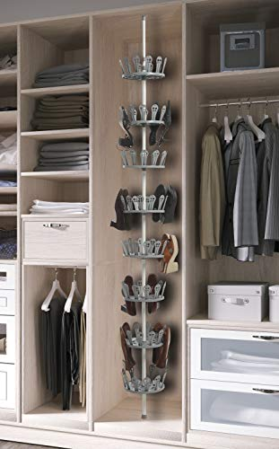 Kit Closet Zapatero Giratorio 48 Pares, Gris, Unico