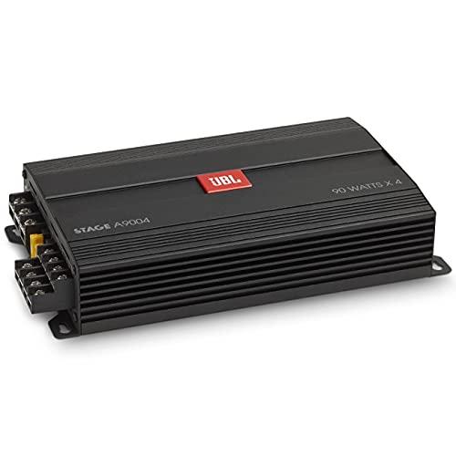 JBL Stage A9004 4/3/2-Kanal Endstufe Auto - KFZ Autoradio Verstärker 4 x 90 Watt RMS 880 Watt Spitze für 4 Auto Lautsprecher, oder 2 plus 1 Subwoofer, oder 2 Lautsprecher