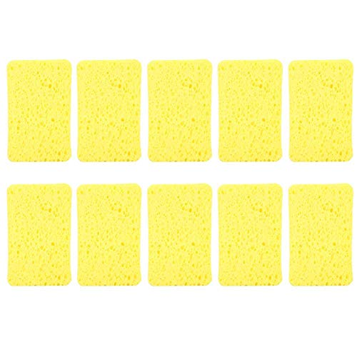 10 stks Schotel Sponzen, Huishoudelijke Keuken Spons Borstel Doek Afvegen Rag 1.5×10.8×7 cm