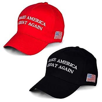 Make America Great Again Hat [2 Packs] Keep America Great Hat Donald Trump 2020 USA MAGA Cap Adjustable Baseball Hat