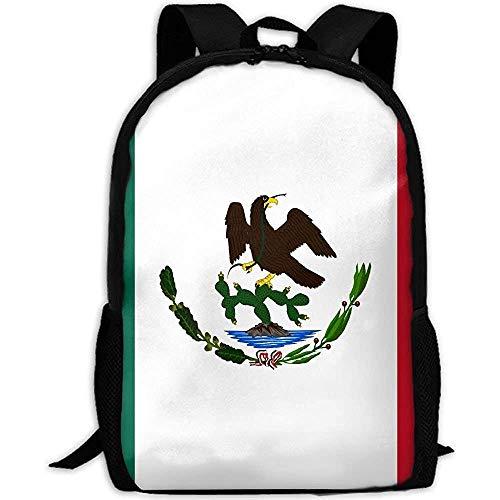 Rucksäcke,Mexiko Mexiko Flagge Erwachsener Reiserucksack Schule Casual Daypack Oxford Outdoor Laptop Tasche College Computer Umhängetaschen