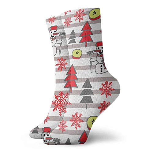 Alto Rendimiento Sports Socks,Calcetines Deportivos,Ocasionales Calcetines,Divertido Patrón De Navidad Colorido Con Muñeco De Nieve Control De Humedad Calcetines Para Correr Calcetines De Entrenamie