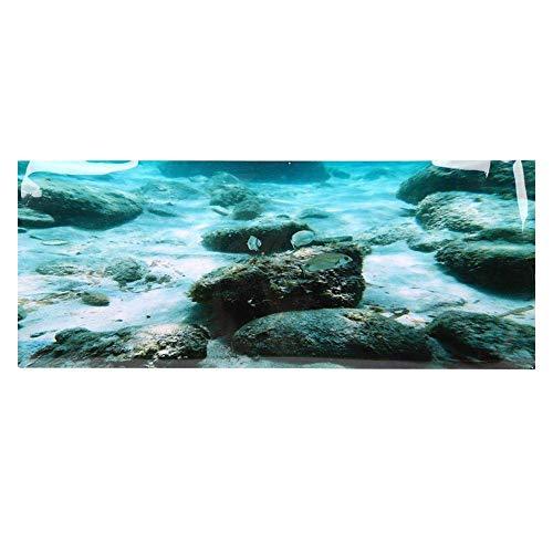 Gpzj Seabed Rock Aquarium Hintergrund, PVC Kleber doppelseitige Poster Aufkleber Aquarium Dekoration