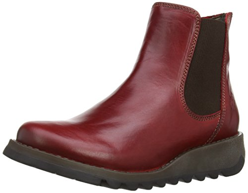 Fly London Damen Salv Chelsea Boots, Rot (Red 004), 38 EU