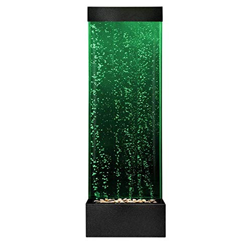 Playlearn Sensory LED Bubble Wall - 4 Ft - 48 Inch Tank Indoor Water Feature - APP Controlled - Large Floor Lamp with 8 Changing Light Colors - Stimulating Home and Office Décor