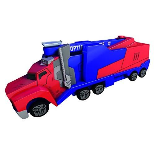 Dickie 203112003 - Transformers Mission Racer Optimus Prime, 16 cm