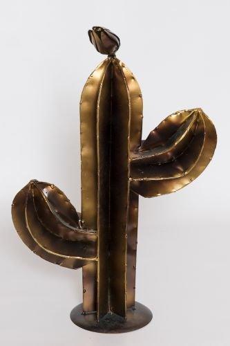 Cactus in Bronze Colour Approx. Height 45 cm Cactus Desert Cactus Metal Cactus