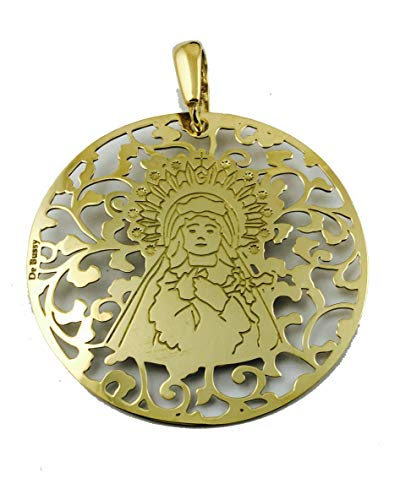 Medalla Virgen de los Dolores (Paso Azul de Lorca) en Plata de Ley Cubierta de Oro de 18kt