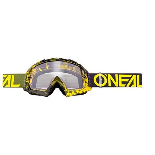 O'Neill Wetsuits 6024-300O - Oneal B-10 Pixel Clear Motocross Goggles Hi-Viz Green