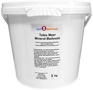 well2wellness Sel de bain / Gommage / Scrab pour sauna 5 kg 100 % naturel, de Mer Morte Jordanie