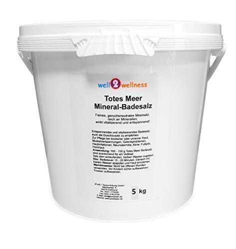 Morto Meer Mineral Sali da Bagno / Sali per Sauna Ruvido 5,0 kg - 100% Genuino Dal Mar Morto