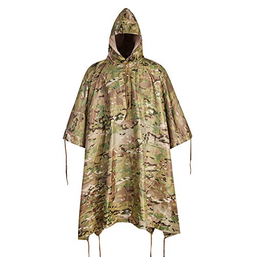 Military Army Tactical Poncho W/P20000mm Military Grade Waterproof Material