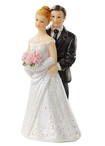 CREApop Hochzeitspaar Braut und Bräutigam 6,5cm Tortenfigur