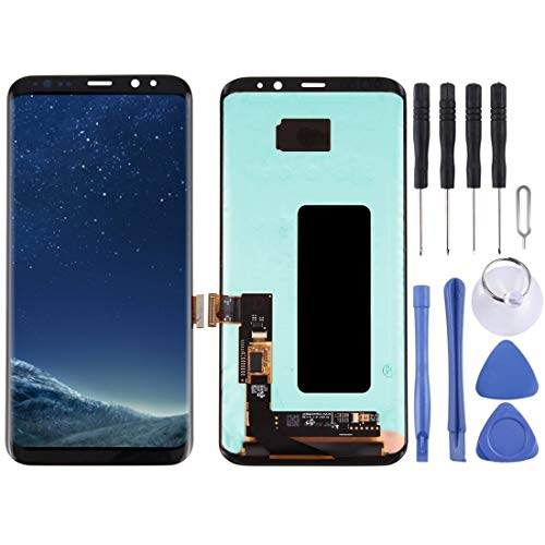Glass LCD-scherm + Touch Panel For Galaxy S8 + / G955 / G955F / G955FD / G955U / G955A / G955P / G955T / G955V / G955R4 / G955W / G9550 (zwart) Reparatie (Color : Black)