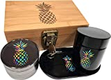 Pineapple Stash Box Combo with Lock - Glass stash jar...