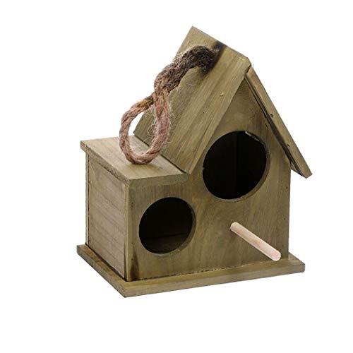 LQW HOME Nistkästen Holzkiste Garten Vogelkäfige Nester Vogelhaus langlebig blau braun Nistkästen (Color : D)