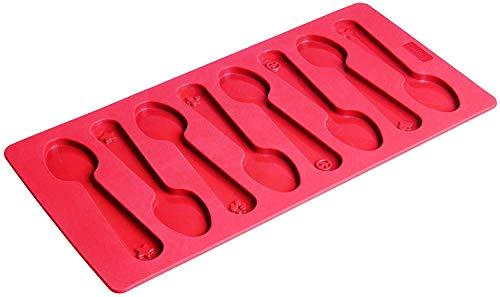 Lurch 83070 Cuillère à café, Silicone, Rouge, 20 x 15 x 10 cm