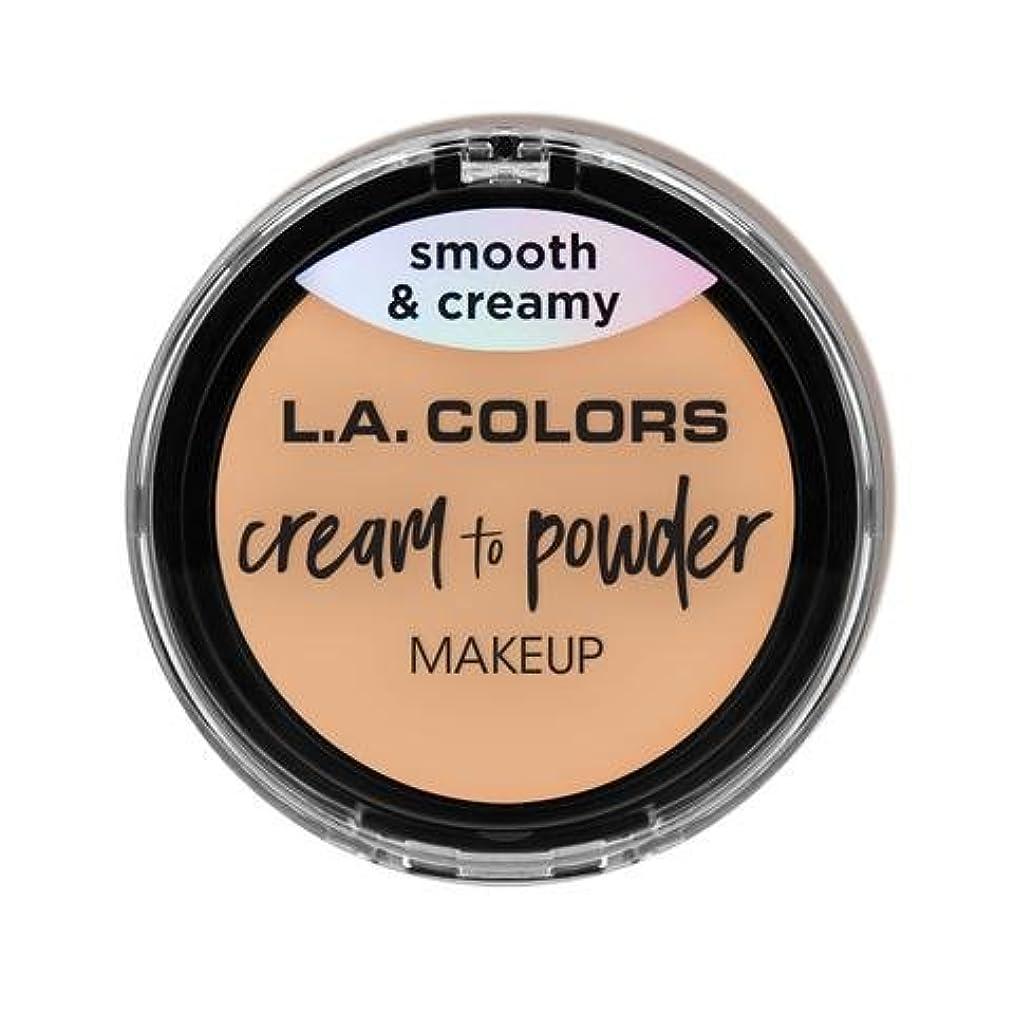 樹木警官運河(3 Pack) L.A. COLORS Cream To Powder Foundation - Buff (並行輸入品)