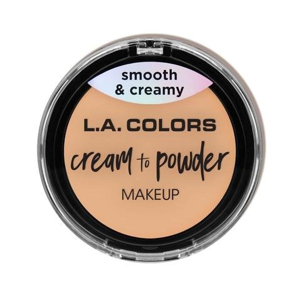 喜びプーノ場所(3 Pack) L.A. COLORS Cream To Powder Foundation - Buff (並行輸入品)