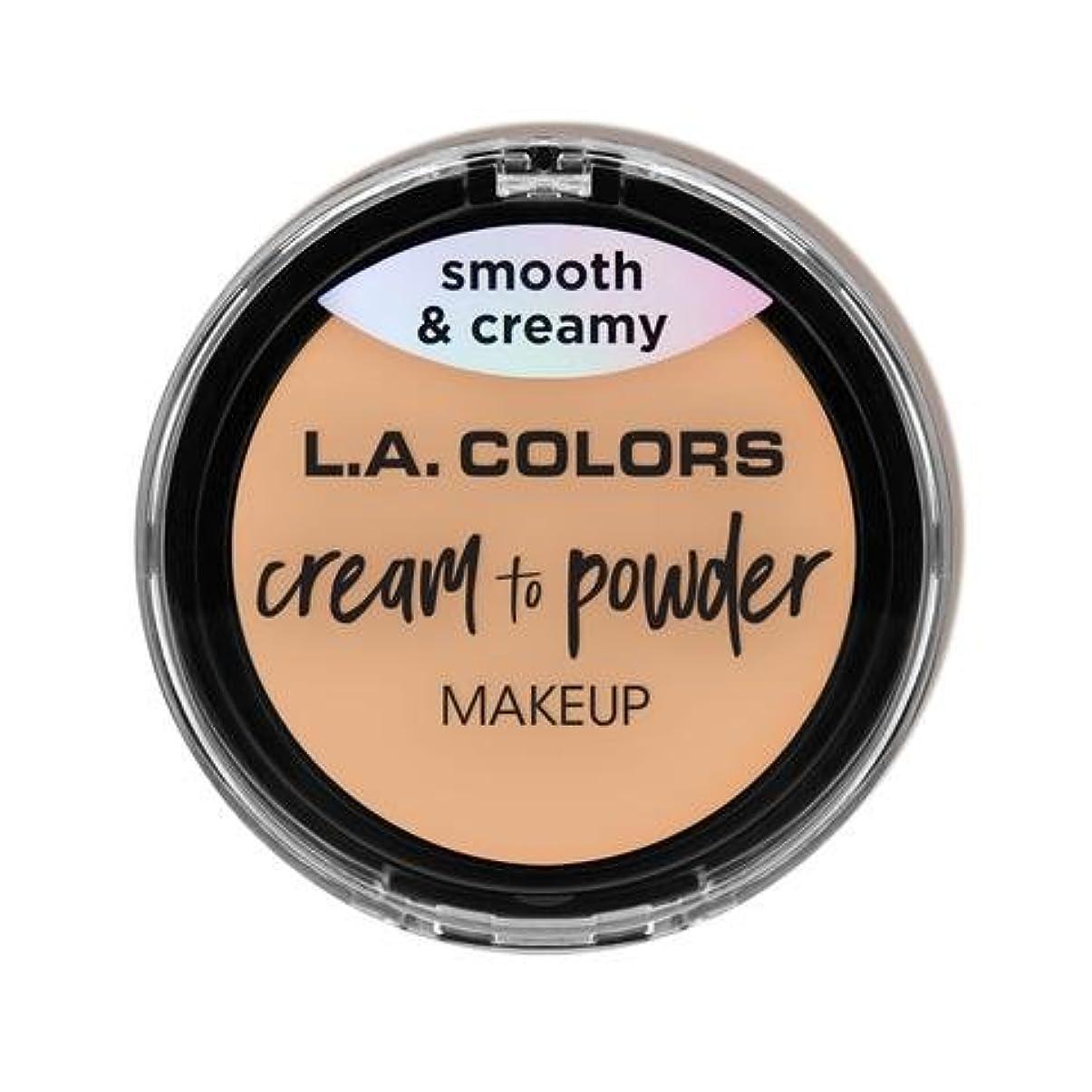 オセアニアのスコア奨学金(3 Pack) L.A. COLORS Cream To Powder Foundation - Buff (並行輸入品)